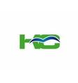 Elegant alphabet K and C letter logo vector image vector image