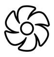 fan line icon vector image