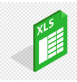 file format xls isometric icon vector image vector image