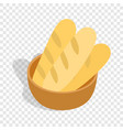 fresh loaves isometric icon vector image vector image