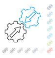 gear integration line icon vector image vector image