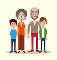 grandparents with grandchild image vector image