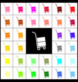 hand truck sign felt-pen 33 colorful vector image vector image