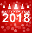 happy new year 2018 background decoration vector image