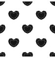 heart-shaped gemstone icon in black style isolated vector image vector image
