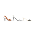 high heels are placed vector image vector image