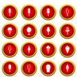 ice cream icon red circle set vector image vector image