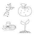 isolated object of and sign collection of vector image