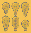 lectric bulb icon set vector image vector image
