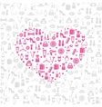 Love shopping seamless background vector image vector image