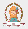 man hippie peace and love vector image vector image