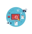 Marketing research icons vector image