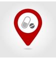 Medication map pin icon vector image