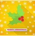 mistletoe christmas card vector image