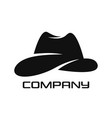 modern hat logo vector image