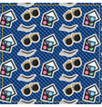 patches sunglasses eyebrow and makeup pattern vector image
