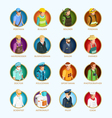 People Avatar Isometric Set vector image vector image
