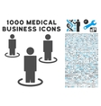 People Icon with 1000 Medical Business Pictograms vector image vector image