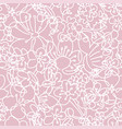 pink and white floral seamless pattern cherry vector image