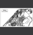 rabat morocco map in black and white color vector image