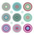 Round mandala ornaments vector image vector image