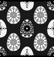 seamless pattern with decorative eggs esater vector image vector image