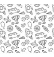 seamless patterns for kids vector image
