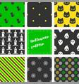 set halloween seamless pattern flat design vector image