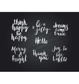 set of calligraphic text vector image vector image