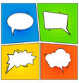 set of comic speech bubble cartoon vector image vector image