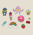 set of fashion patches vector image