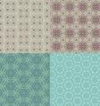 set of four seamless patterns kazakh asian floral