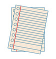 set of sheets vector image vector image