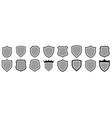 shield icons set protect vector image