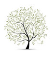 spring tree green for your design vector image vector image