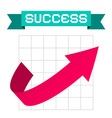 Success Arrow on Graph and Retro Ribbon vector image vector image