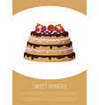 sweet bakery with fruits vector image vector image