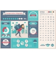 Transportation flat design Infographic Template vector image vector image