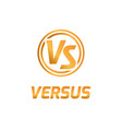 versus letters logo flat competition concept vector image
