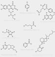 Vitamin skeletal formula vector image