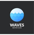 Waves logo template vector image
