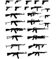 gun collection vector image