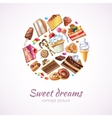Abstract sweets background vector image