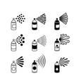 spray aerosol bottle graffiti can icons vector image