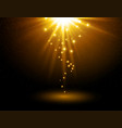 abstract light background magic light with gold vector image