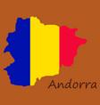 andorra map andorra flag isolated andorra vector image vector image