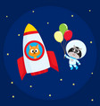 animal astronaut spaceman characters cat and vector image vector image