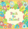 back to school balloons background vector image vector image