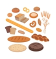 Bakery Products Set Flat Design vector image