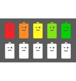 Battery level smiley icons vector image vector image